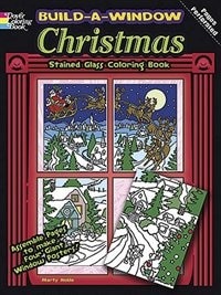 Build a Window Stained Glass Coloring Book - Christmas