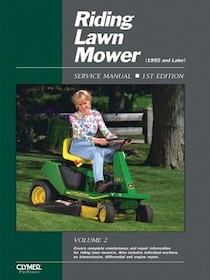 Riding Lawn Mower Service Manual 1992 And Later: Volume 2