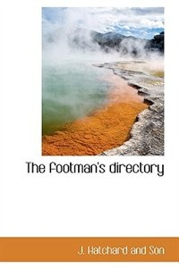 The footman''s directory