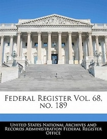 Federal Register Vol. 68, No. 189