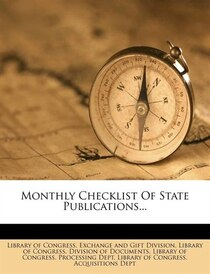 Monthly Checklist Of State Publications.