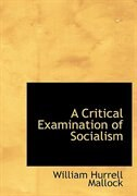 A Critical Examination of Socialism (Large Print Edition)